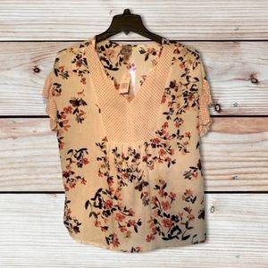 Pretty boho Como vintage floral blouse
